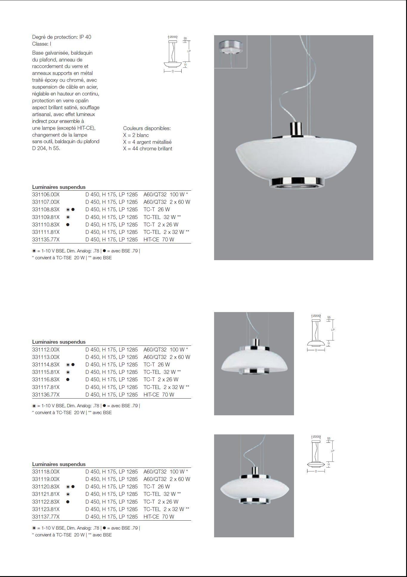 Eclairage page 5 for Luminaire a suspendre